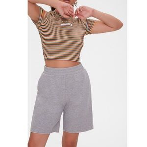 NWT F21 Taupe French terry shorts